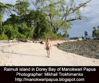 A Russian traveler in Raimuti island of Manokwari