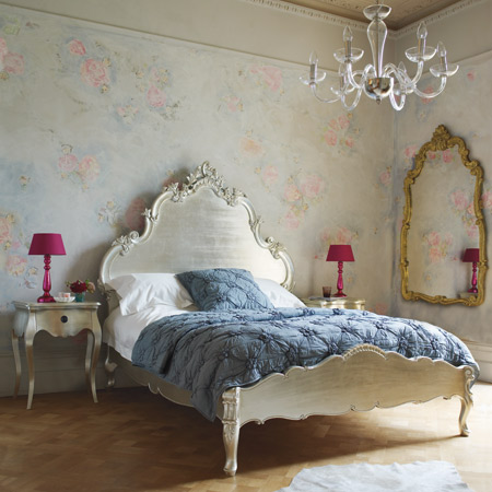 Charleston Silver Leaf Bed From Graham And Green