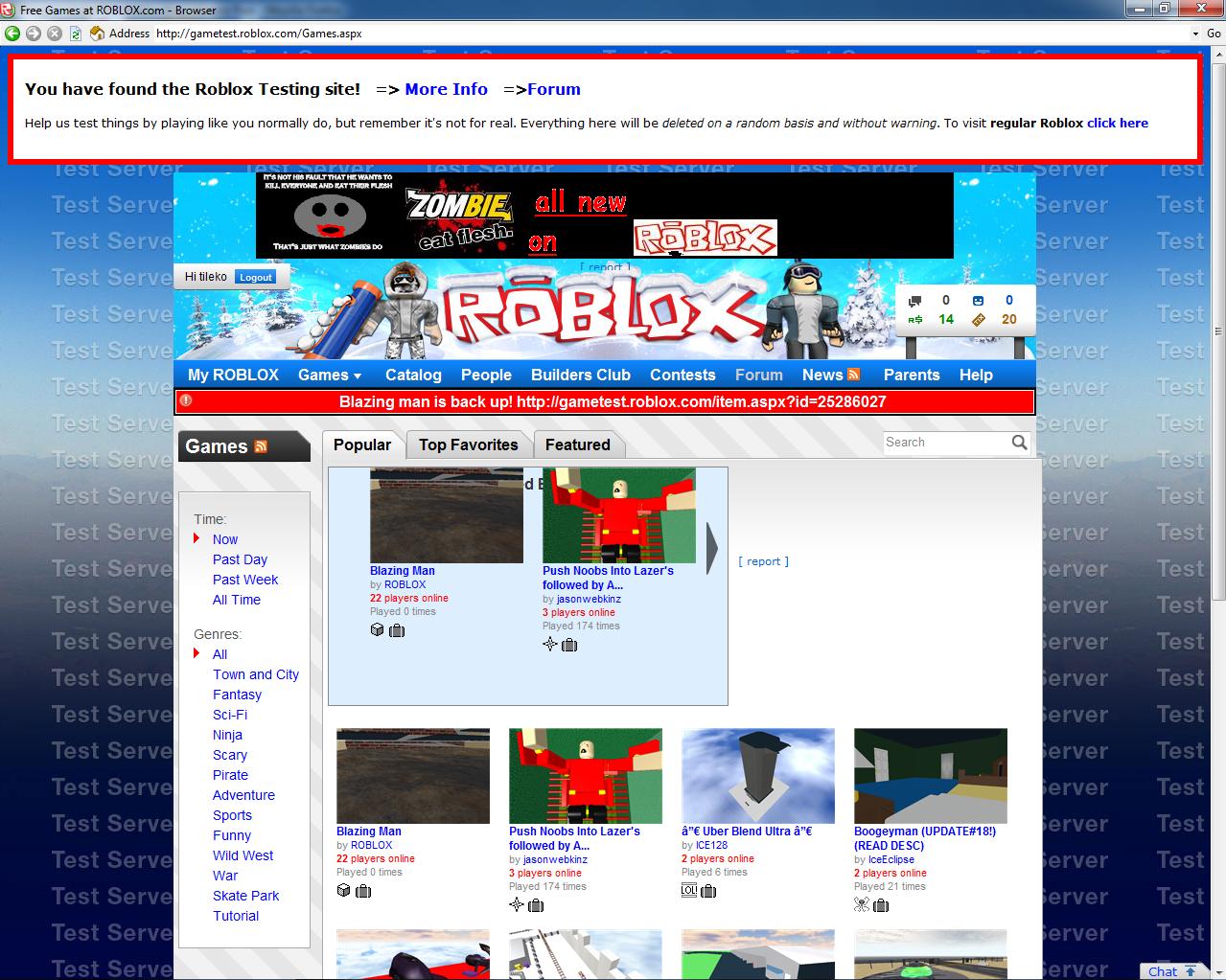 roblox test site