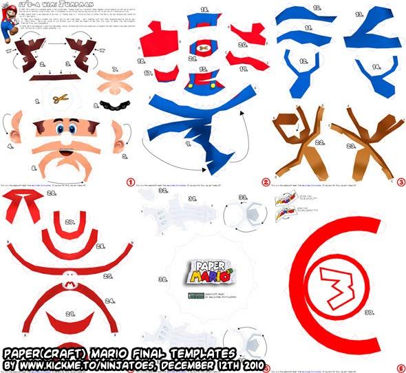 Ninjatoes' papercraft weblog: Papercraft Mario final stage: