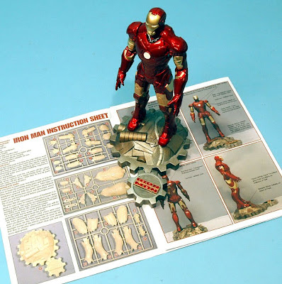 Scale Model News: IRON MAN'S ATTRACTIVE INSTRUCTIONS