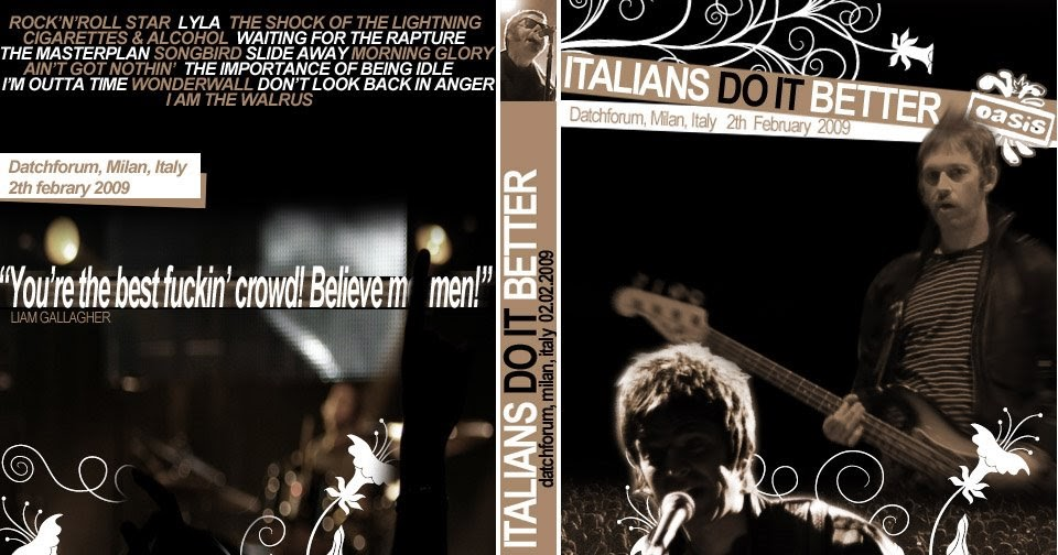 Lyric oasis lyrics masterplan : oasisblues: SNOWASIS - Oasis gig in Milan: surprisingly Liam great ...