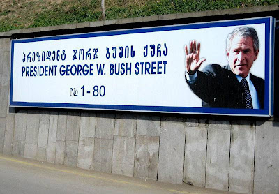 Russia: Saakashvily Really Named A Street After George W. Bush!