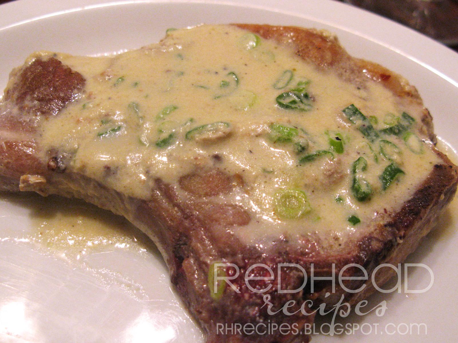 Redhead Recipes: Mustard Pork Chops