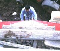 worker climbing latter