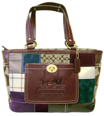 Coach No 18 Holiday Patchwork Tote 11358