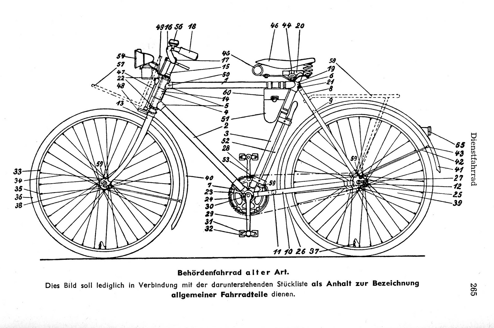 Bike Parts Diagram Mains Powered Smoke Alarm Wiring Four Bees Vintage Dienstfahrrad Info
