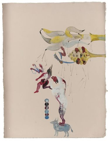 Shahzia Sikander Title Plush blush Medium gouache and ink 38 x 29.2 cm