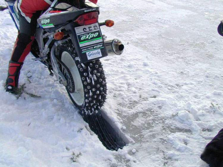Motorcycling on Ice
