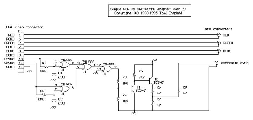 vga to component wiring diagram 2001 pt cruiser speaker en 664 r: converter composite