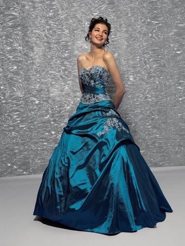 b552dcc3a Vestidos galeria  Vestido de 15 Años - Color azul petroleo