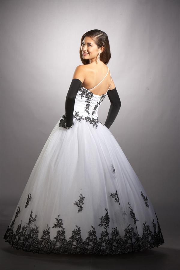 Vestido De 15 Años De Color Negro Y Blanco Vestidos Para