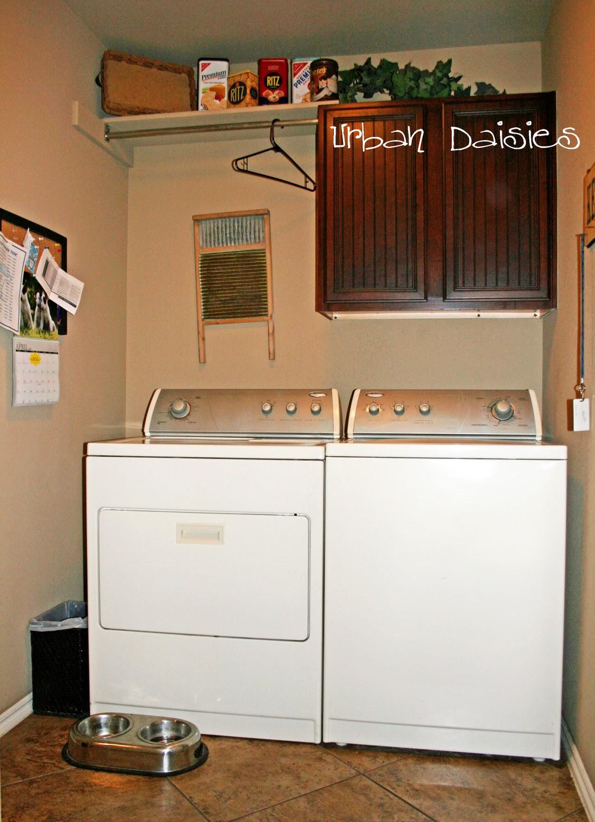 Urban Daisies Laundry Room Redo