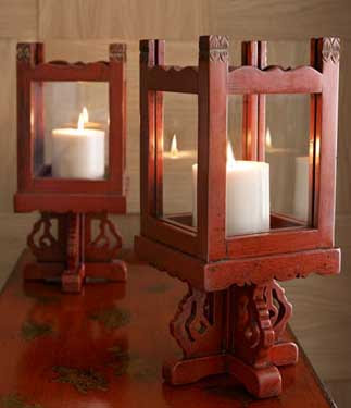 Asian candle holder pity