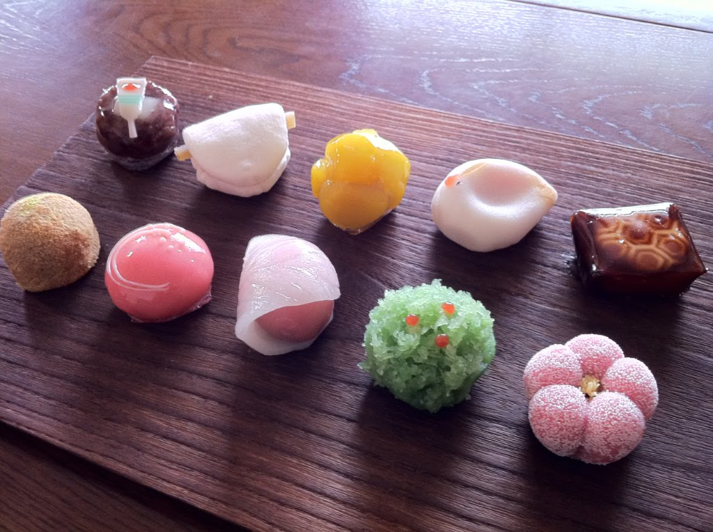 Tales of Japanese tea: Sweets from a confectionary shop ...