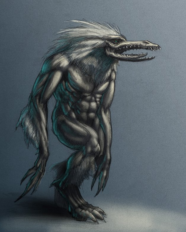 ... bird man hybrid i like the meancing appearance of the bird features