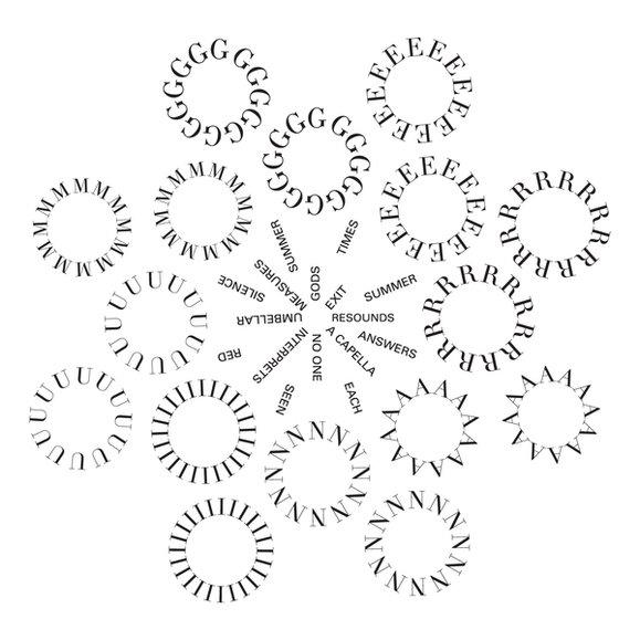 Calligramma Della Poesia Geranium Laceprof Materiali