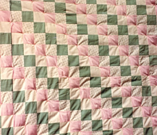 Margaret's baby quilt, made by Robin Atkins
