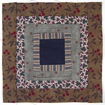God's Eye Quilt, block 3, by Robin Atkins