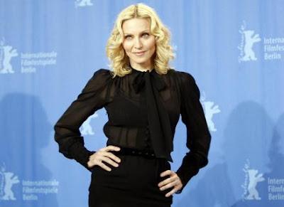 Madonna no lançamento de seu primeiro filme