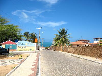 Entrada da cidade de Canoa Quebrada