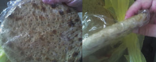 Matzah: top and side views