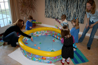 Pink and green mama birthday party highlights fishy for How do you play go fish