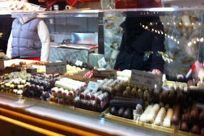 Sweets for sale at the Ludwigsburg Baroque German Christmas Market in Stuttgart, Germany