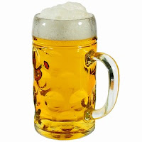 German Beer Stein Glass