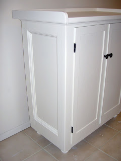 side panel detail hardware cabinet