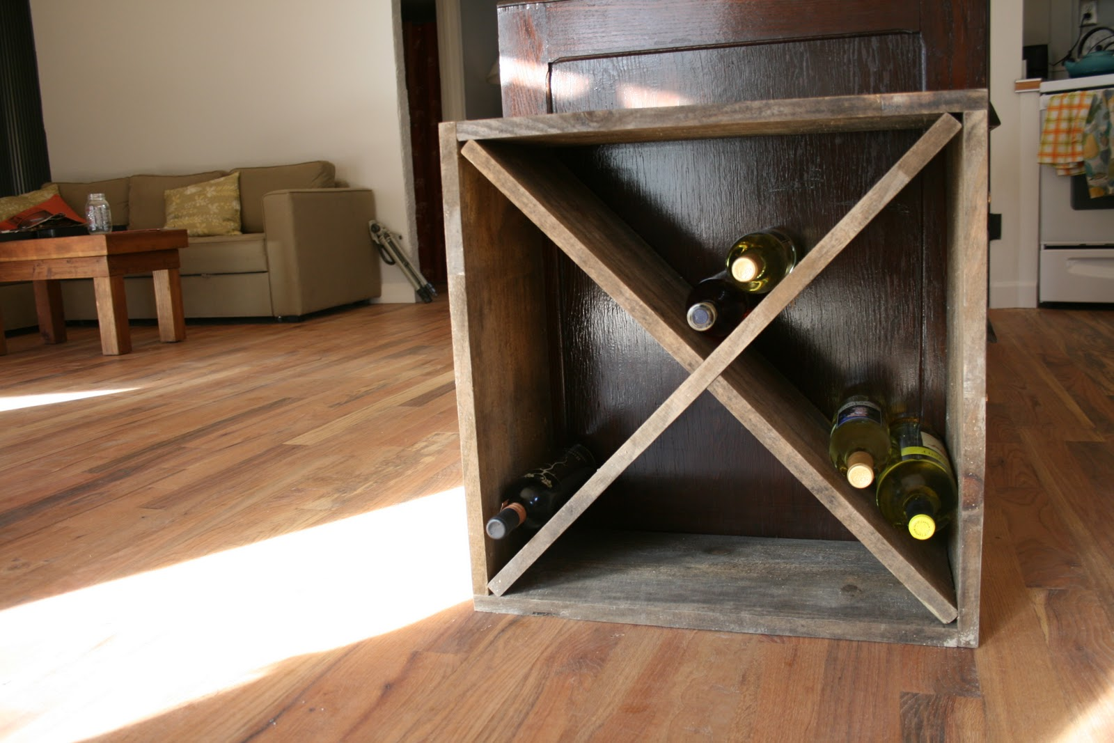 off the map: How to: Build a diamond shaped wine rack