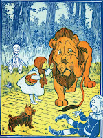 Wizard of Oz Dorothy and Cowardly Lion ClipArt Image