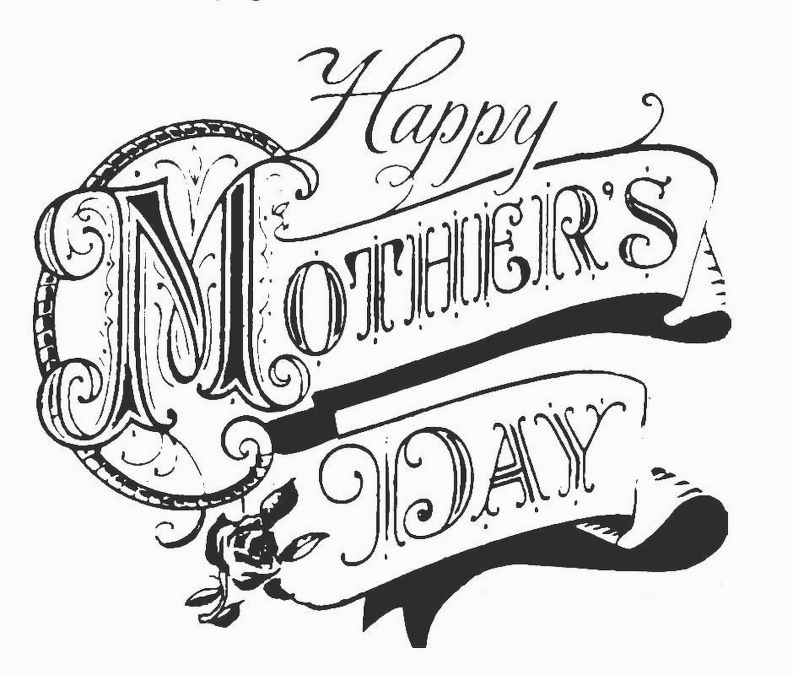 Mother's Day Happy Mother's Day Public Domain Clip Art