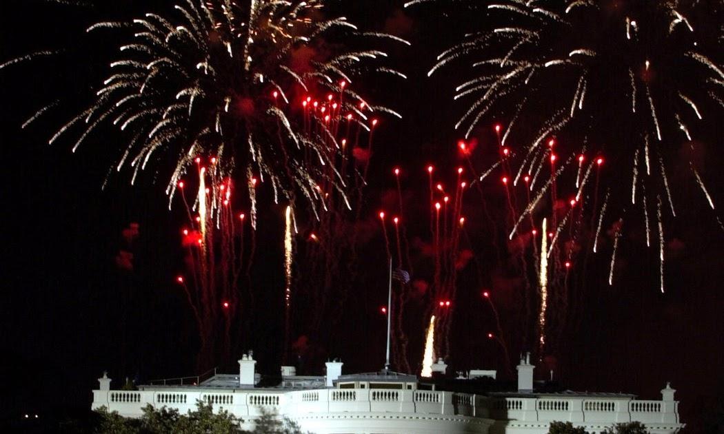 Fireworks explode over the White House Public Domain Clip ...