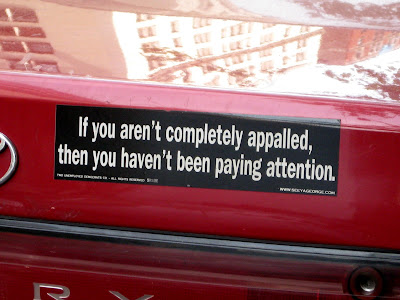 Appalled Bumper Sticker