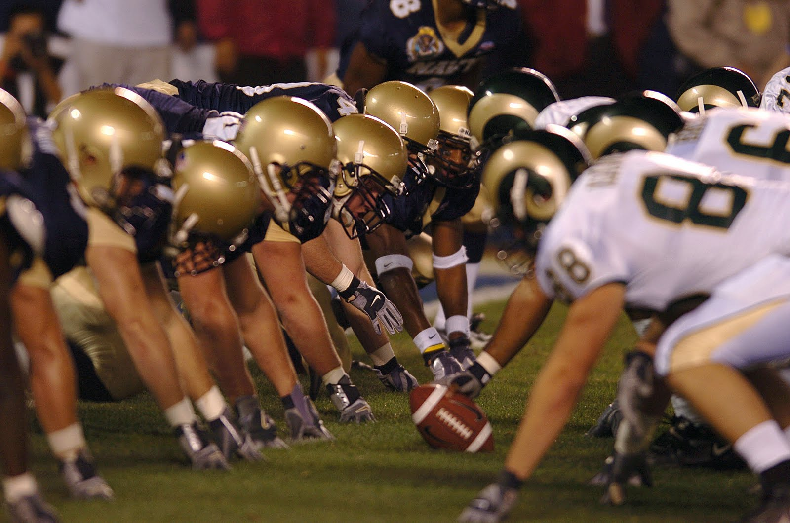 Football Line of Scrimmage Public Domain Clip Art Photos and Images
