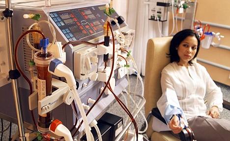 Patient undergoing Dialysis