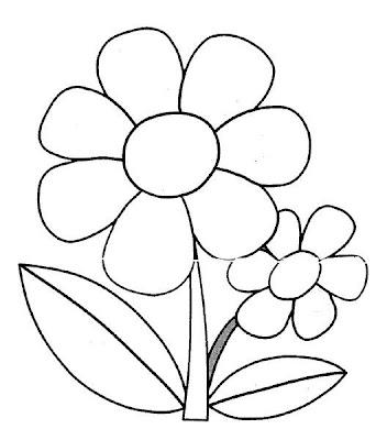 El rincon de la infancia: ♥Flores para colorear (En el día