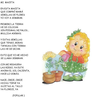 El rincon de la infancia poesias para el d a de la for Que es jardin de infancia
