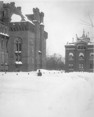 South Yard After Snowstorm, c. 1920. Unknown. Institutional History Division, Smithsonian Institution Archives
