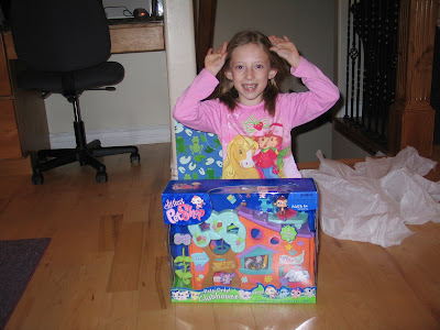 Mandi excited about her Littlest Pet Shop
