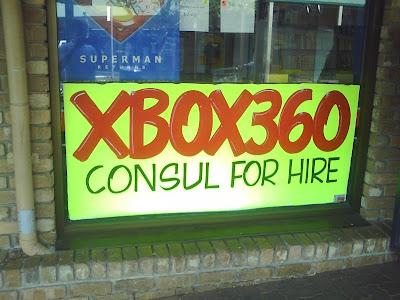 XBOX 360 consul (sic) for hire