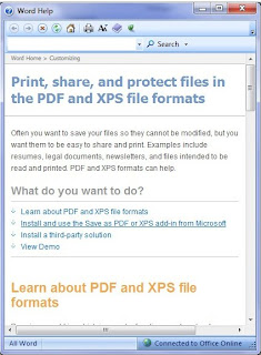 Save As Pdf Or Xps Add-in