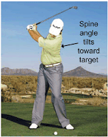 golf swing stack and tilt Aaron Baddeley