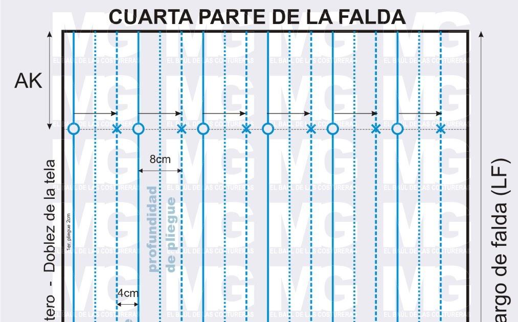 NIGHTERS: FALDA DE TABLAS O PLISADA PATRON