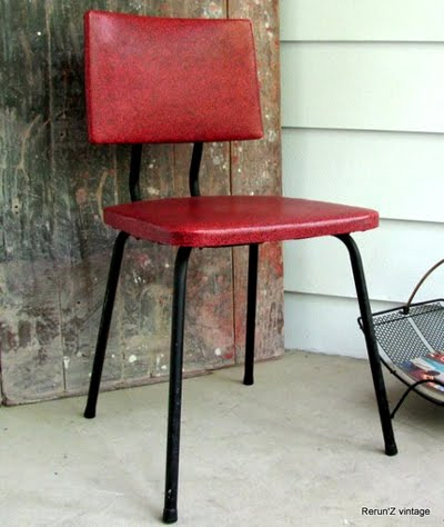 Etsy Vintage: Vintage Retro Vinyl Kitchen Chair