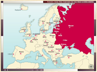 Free technology for teachers the map as history animated each map also provides the option to view a transcript of the narration take a look at the history of europe since 1945 map gumiabroncs Images