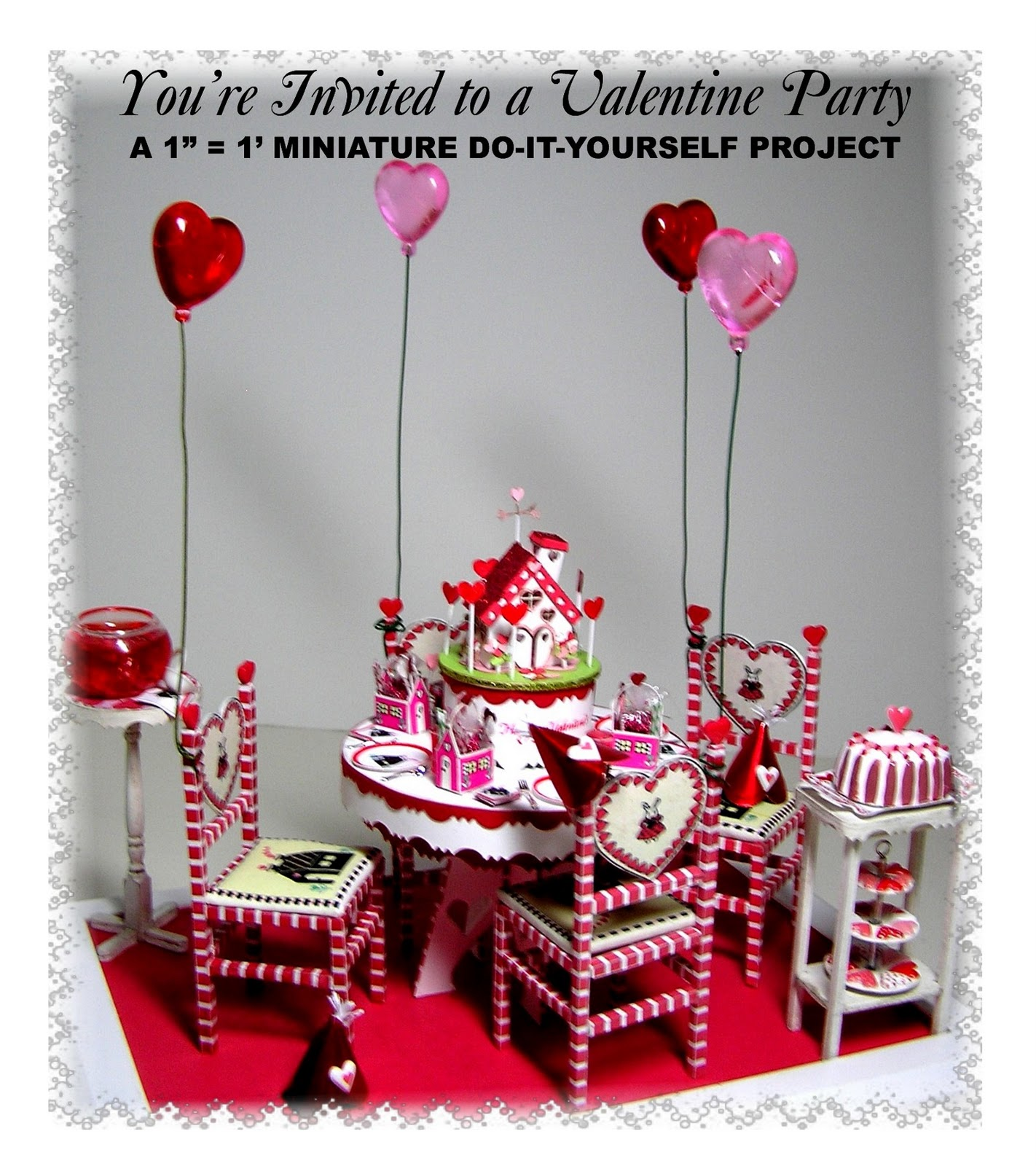 """Dollhouse Miniatures Diy: DYI DOLLHOUSE MINIATURES: """"You're Invited..."""" Part One"""