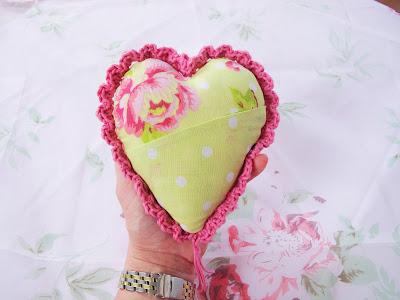 Fabric and Crochet Heart Tutorial: Part 3