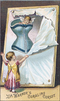 child in a corset with another child looking on